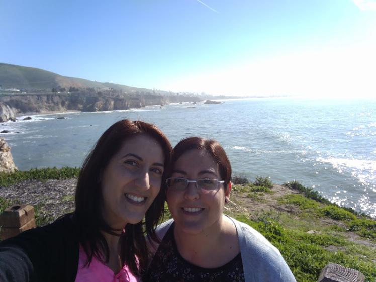 selfie con l'oceano