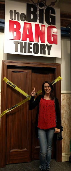 sul set di The Big Bang Theory