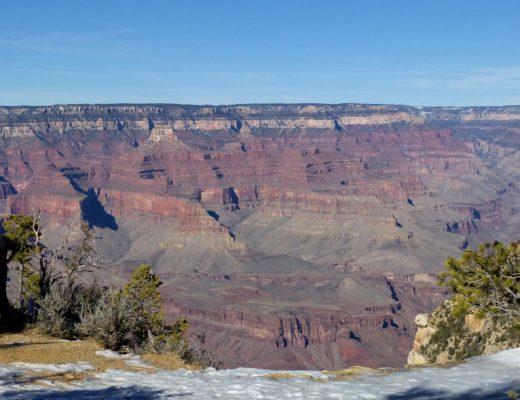 l'imponenza del Grand Canyon innevato