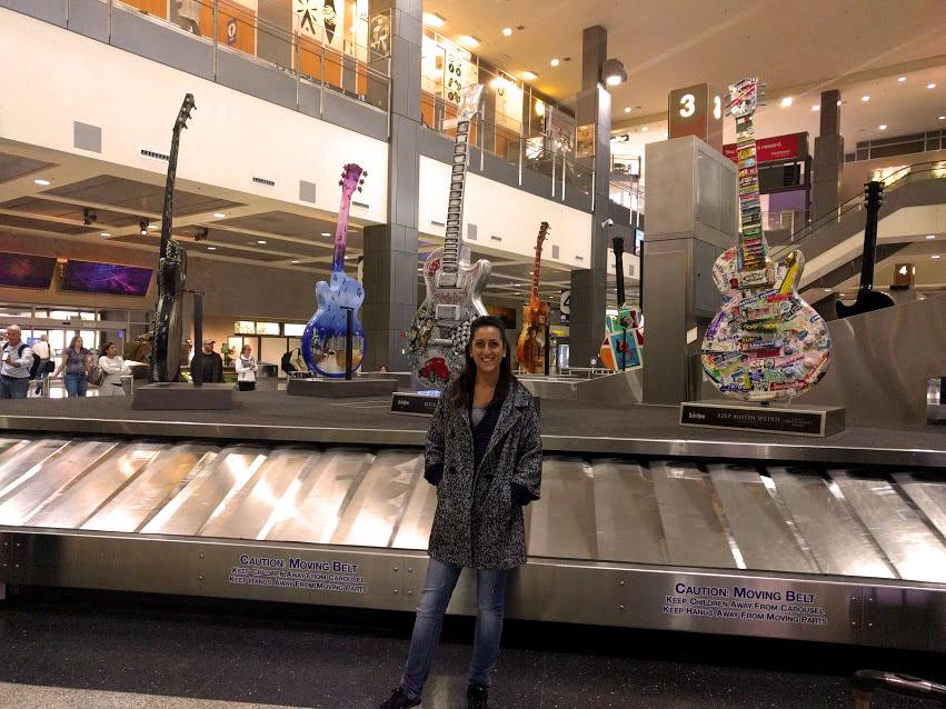 colori e musica all'aeroporto di Austin