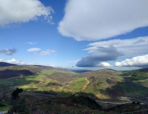 panorama sui Monti Dauni