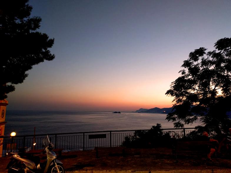 tramonto su Positano
