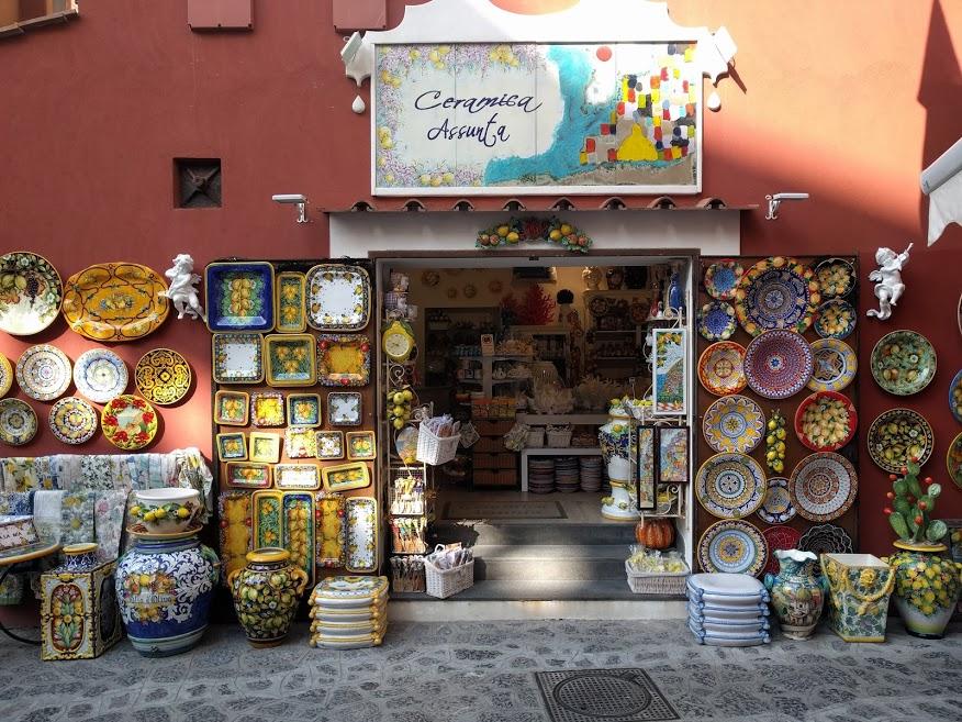 cosa comprare a Positano: ceramica