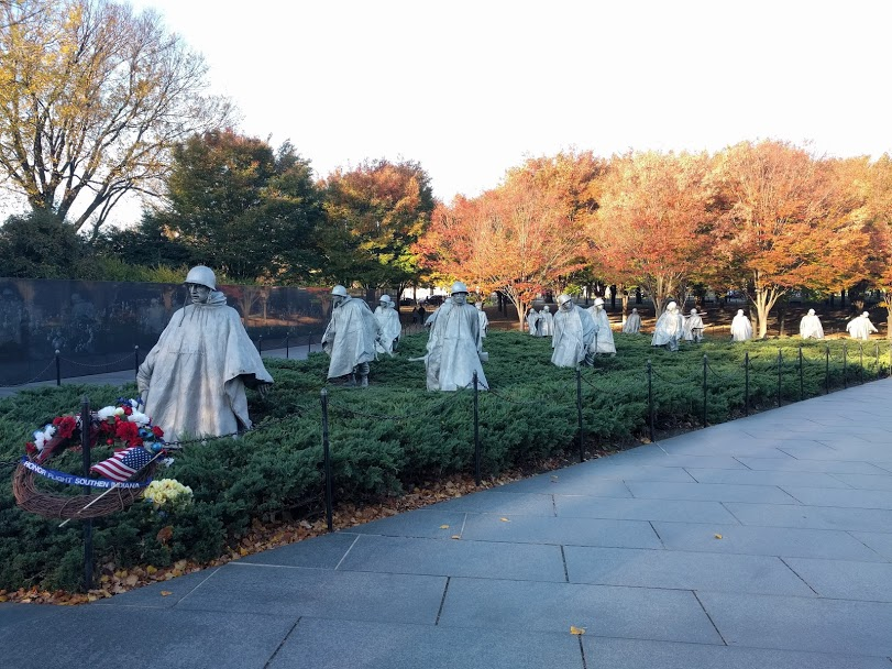Korean War Veterans Memorial: The National Mall Washington DC