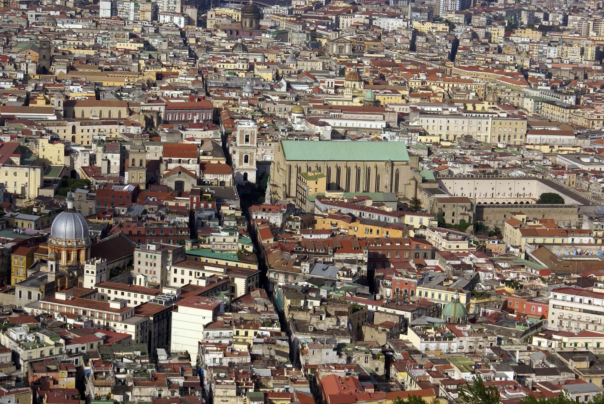Veduta di Napoli e di Spaccanapolidall'alto