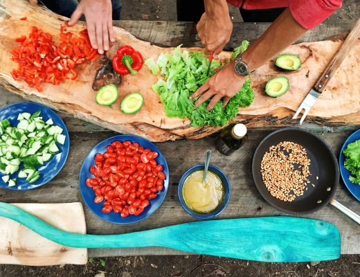 Ricette dal mondo: ortaggi e verdure in corso di preparazione