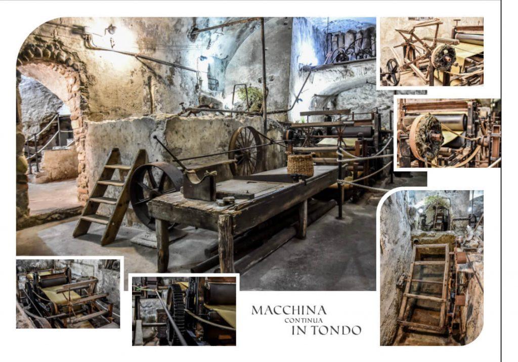 Antichi macchinari per la produzione della carta fatta a mano del Museo di Amalfi