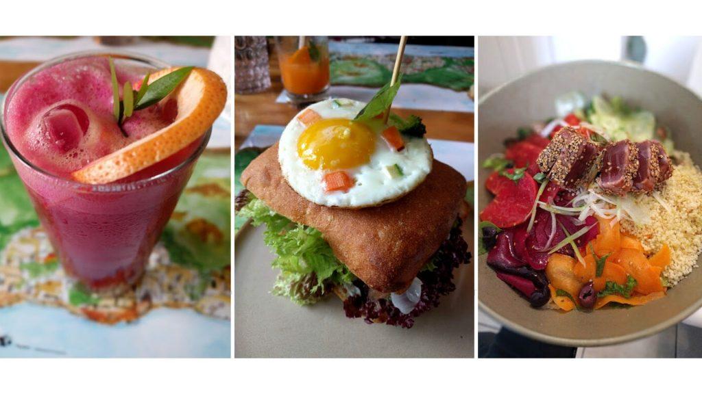 I piatti del menu di Casa e Bottega bistrot healthy a Positano. Smoothies, panini gourmet e insalate