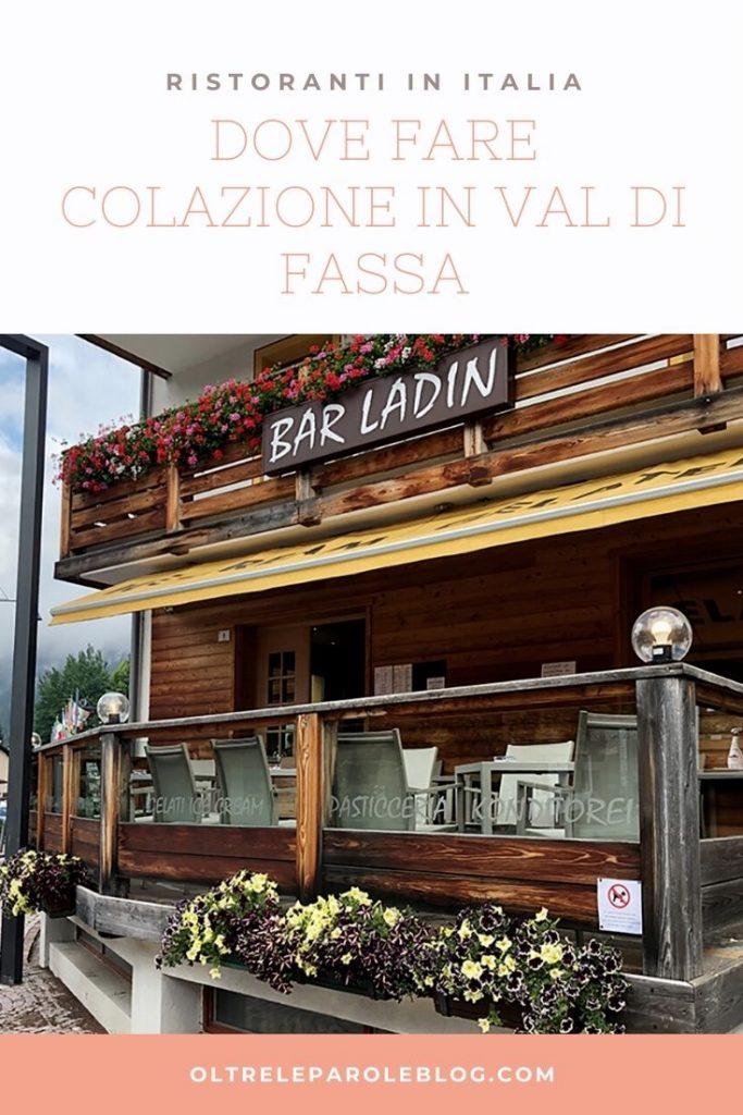 COLAZIONE Bar Pasticceria Ladin di Canazei