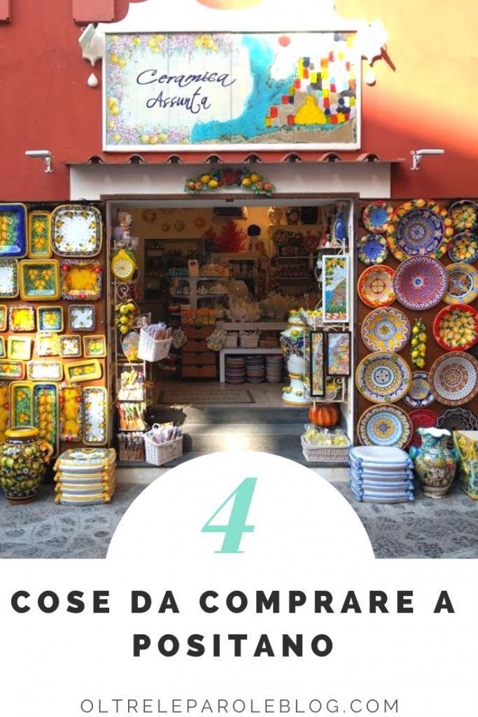 Shopping Positano ceramica cosa comprare a Positano
