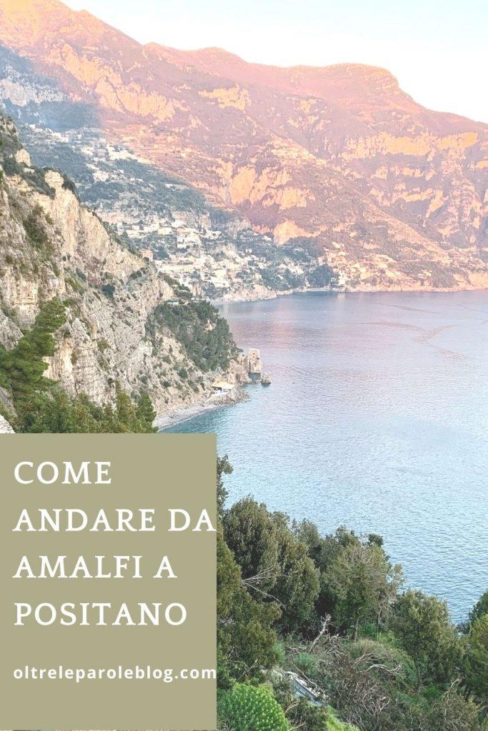 Sulla strada per Positano da Amalfi a Positano
