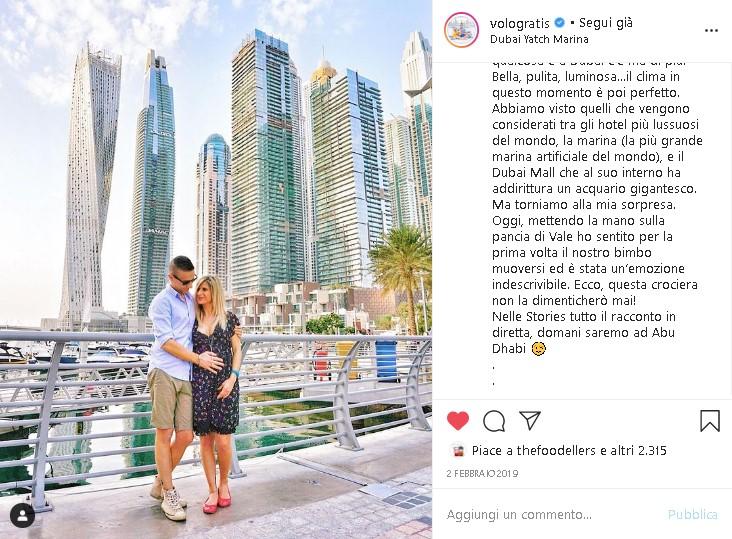 Andrea e Valentina durante il loro viaggio a Dubai - Tra i ricordi di viaggio più preziosi di Andrea