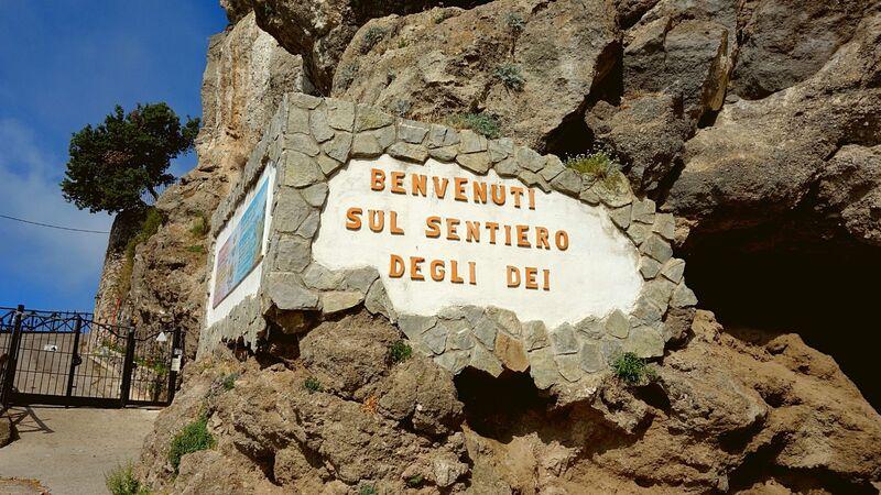 Il punto di partenza del sentiero degli Dei che porta da Agerola a Positano