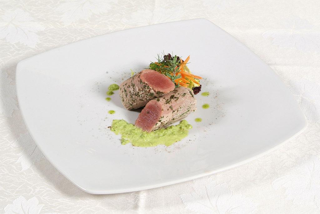Tonno scottato presso il ristorante Leonardo's di Agerola